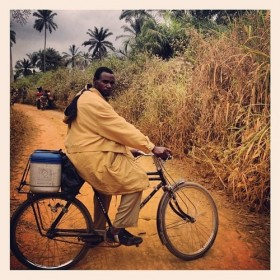 Bicycles and determination: How vaccines reach the remotest parts of DRC